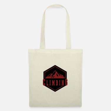 Mountain Climbing Climbing in the mountain - climbing in the mountains - Tote Bag