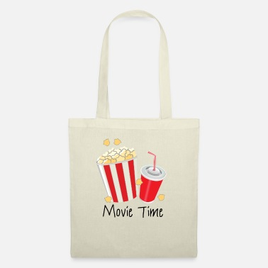 Movie Star Popcorn and Drink Movie Time Gift - Tote Bag