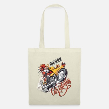Cool Santa Claus on motorcycle - Tote Bag