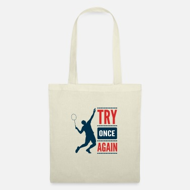 Jouer Badminton Player Lover Team Coach Motivation - Sac en tissu