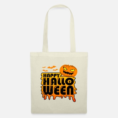 Cheap scary pumpkin Happy Halloween - Tote Bag