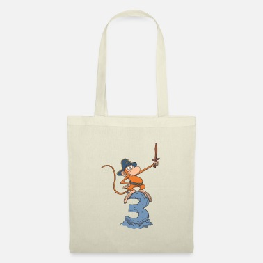 Cute Monkey Monkey pirate children's birthday 3rd birthday - Tote Bag