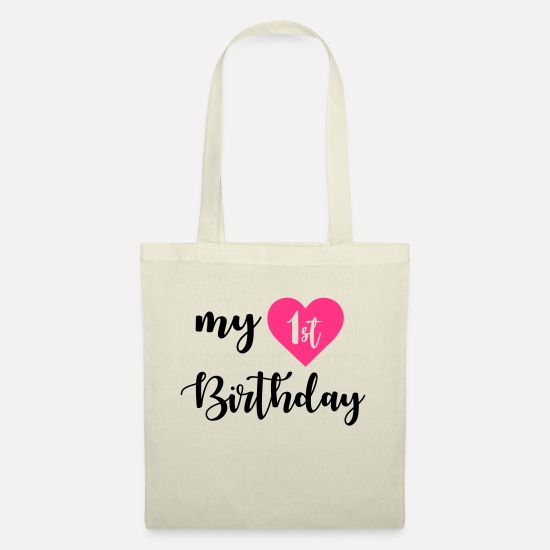 Birthday Bags & Backpacks - 1st birthday - Tote Bag nature