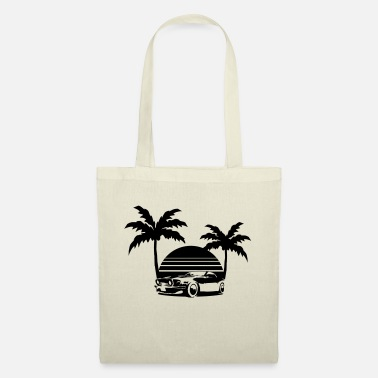 Florida Miami Palmen Sonne Florida USA Oldtimer - Tote Bag