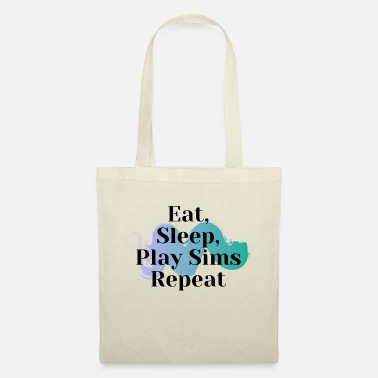Eat Sleep Play Sims Repetir - Bolsa de tela