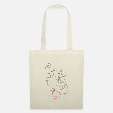 Romantic Heart Girl - Tote Bag