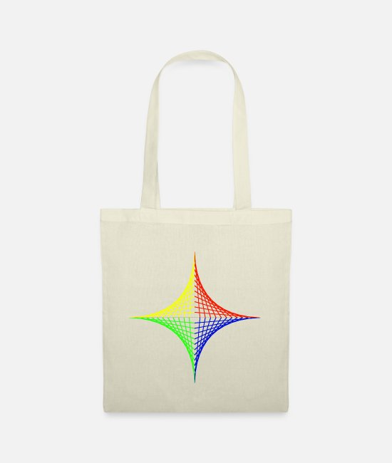 Red Bags & Backpacks - Geometric design Color intensive - Tote Bag nature