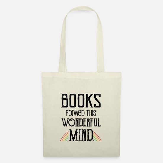 Bookworm Bags & Backpacks - 0137 books formed this wonderful mind - Tote Bag nature