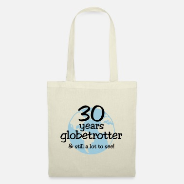 Travel 30 years globetrotter & still a lot to see! - Stoffbeutel