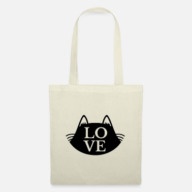 I love cats. Black silhouette - Tote Bag
