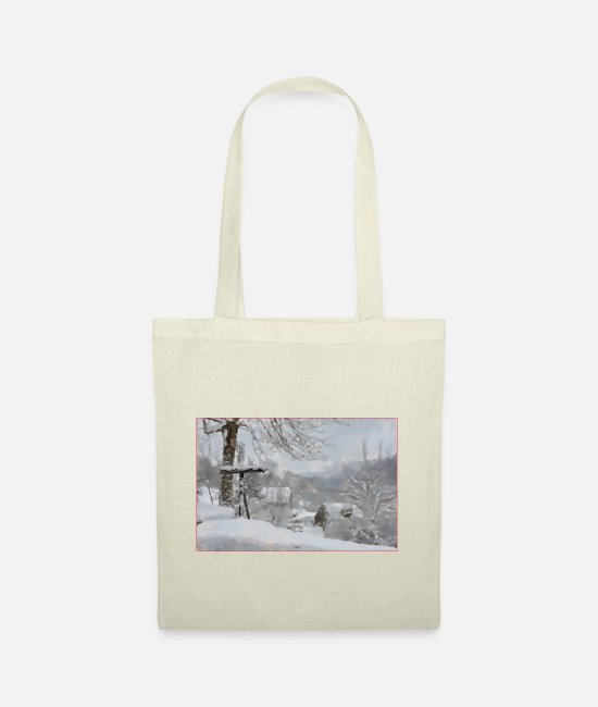 Serenity Bags & Backpacks - snow in Cantal - Tote Bag nature