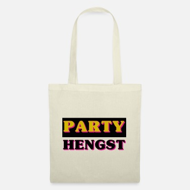 Hashtag party hengst - Stoffbeutel