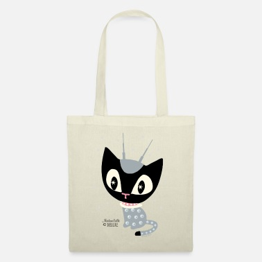 Mademoiselle Deluxe Robot Cat - Tote Bag