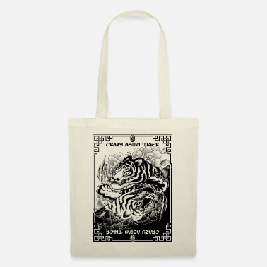 Estampes Japonaises Crazy Asian Tiger 2 - Sac en tissu
