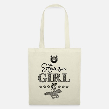 Western Riding Horse Girl AF - Tote Bag