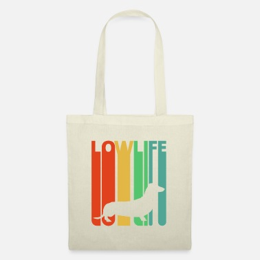 Dog Vintage Retro Lowlife Dachshund.Sausage Dog Lover - Tote Bag