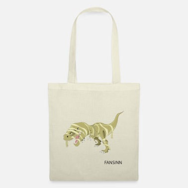 Evil Mummy T-Rex Halloween dinosaur hungry gift - Tote Bag