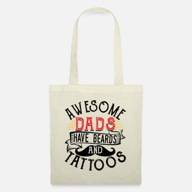 Beard Awesome Dads Have Beards & Tattoos Funny Beard - Tote Bag