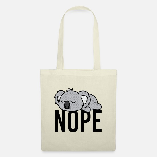 Nope Bags & Backpacks - Nope Funny Koala fan - Tote Bag nature