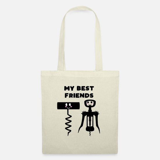 Alcohol Bags & Backpacks - Best Friends Wine Opener Corkscrew Gift - Tote Bag nature