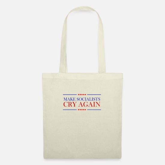 Usa Bags & Backpacks - Make Socialists Cry Again Pro Trump USA election campaign - Tote Bag nature