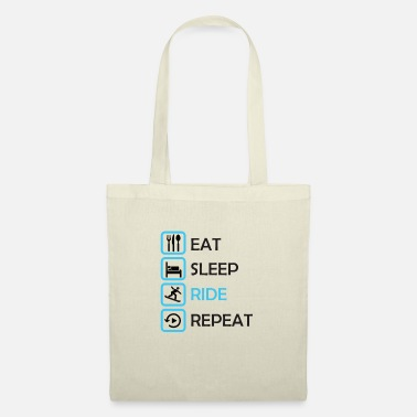 Snowboard Sport - EAT, SLEEP, RIDE, REPEAT - Tote Bag