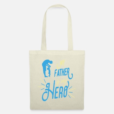 Fatherhood My father is my hero romper baby birth - Tote Bag