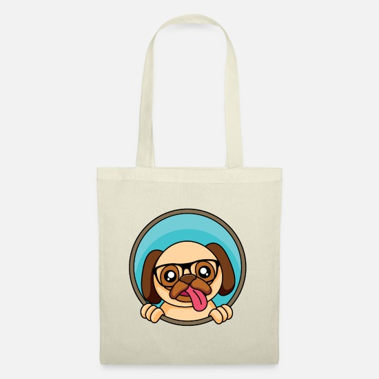 Birthday Bags & Backpacks - Nerd Pug - Design - Tote Bag nature