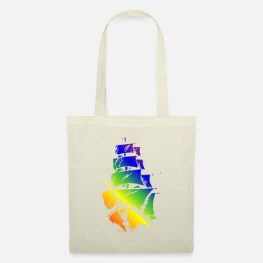 Pirate Ship in LGBT flag - Tote Bag