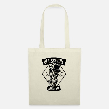 Old school hipster monocle cylinder pipe skeleton - Tote Bag