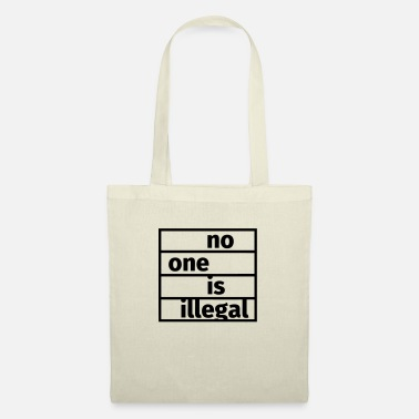 Refugees Welcome No One is Illegal - Tote Bag