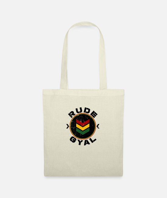 Rastafari Bags & Backpacks - Rude Gyal - Tote Bag nature