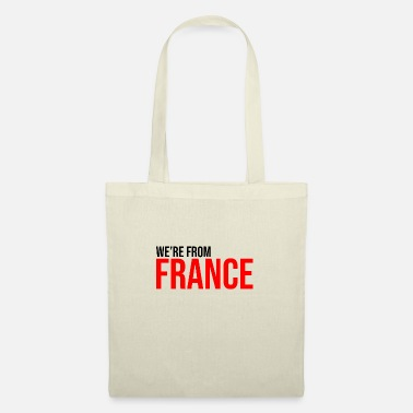 Blue White we're from France French country - Tote Bag