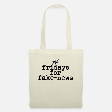 fridays for fake news, retro black - Tote Bag