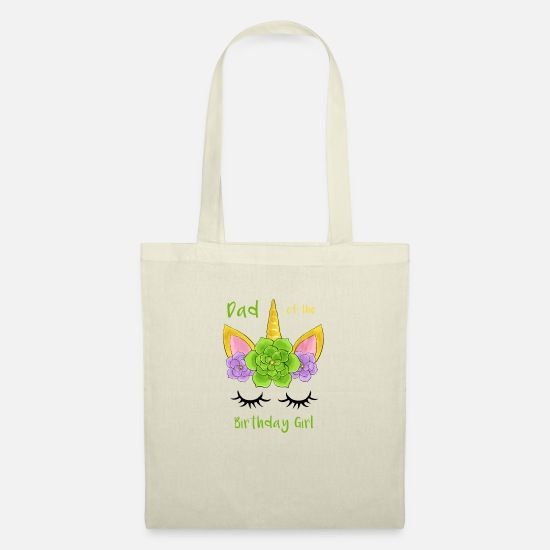 Father's Day Bags & Backpacks - Dad of the Birthday Girl - Tote Bag nature
