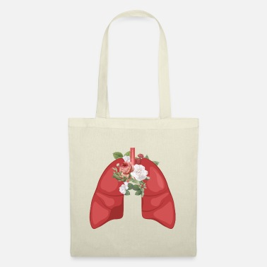 Pretty Nature - Organs - Lungs with flowers - Tote Bag