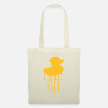 Duck graffiti drops spray stamp silhouette squeak - Tote Bag