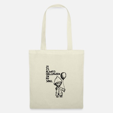Black And White Child Halloween Creepy - Tote Bag