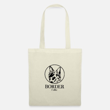 border collie - Tygväska