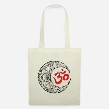 Zen Half moon om black red - Tote Bag