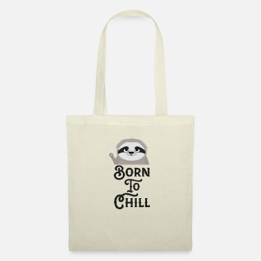 Female Born to Chill Sloth Funny - Tote Bag