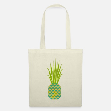 Geometry Pinapple Mustard Olive Green - Tote Bag