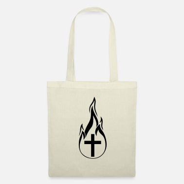 Flaming black fire flames hot burn burnt fack - Tote Bag
