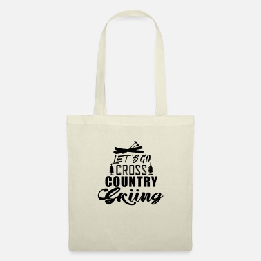 Cross Country Cross Country Cross Country Cross Country Skiing - Tote Bag