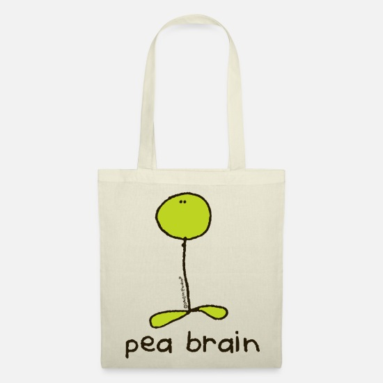 Brain Bags & Backpacks - 'peabrain- Bang on the door - Tote Bag nature