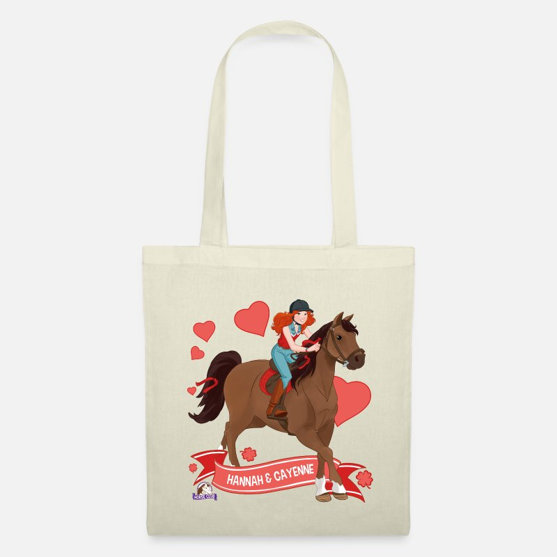 Club Bags & Backpacks - Schleich Horse Club Hannah & Cayenne ride out - Tote Bag nature
