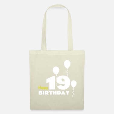 Happy Birthday HAPPY birthday 19 - Bolsa de tela