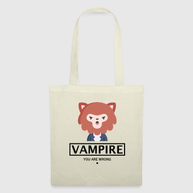 Opposite VAMPIRE WERWOLF HALLOWEEN GIFT - YOU ARE WRONG. - Tote Bag
