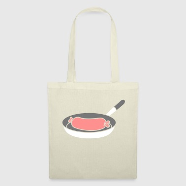 wuerstchen bratwurst sausage koechin barbecue food l - Tote Bag