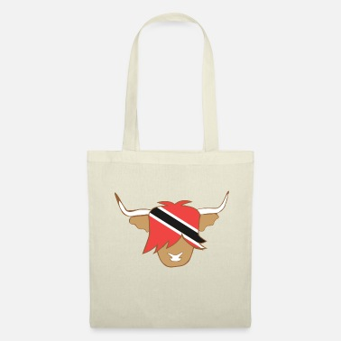 Trinidad And Tobago Highland cow design with trinidad and tobago - Tote Bag